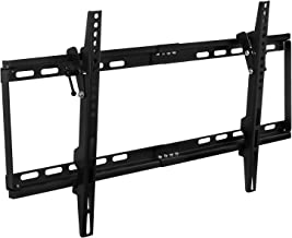 """Mount-It! MI-1121M Slim Tilt TV Wall Mount Bracket for LED LCD Plasma Flat Screen Panels for 32"""" to 65"""" (Many from 20-75"""") up to VESA 600 x 400 and 130 lbs Low Profile. 0-15 Degree Forward Adjustable Tilting and Leveling Bubble Fits Samsung, Sony, LG Sharp, Insignia, Vizio, Haier 26, 28, 32, 40, 42, 48, 49, 50, 51, 52, 55, 60, 65 inch TV, Black"""