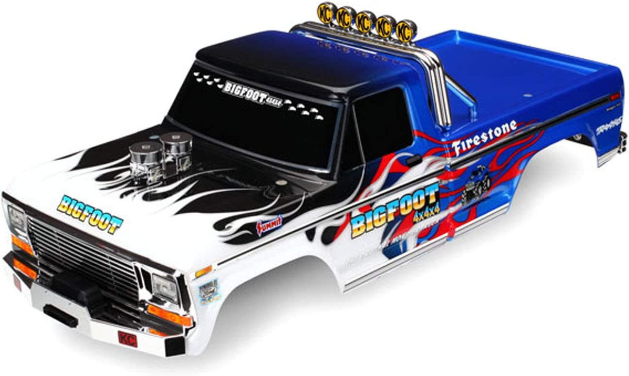 Traxxas 3653 Officially Sales Licensed Bigfoot Painted R New Free Shipping Replica Flame