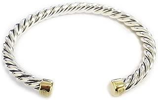 DAVID YURMAN Men's Cable Classic Cuff Bracelet w/ 18K Gold Sz M