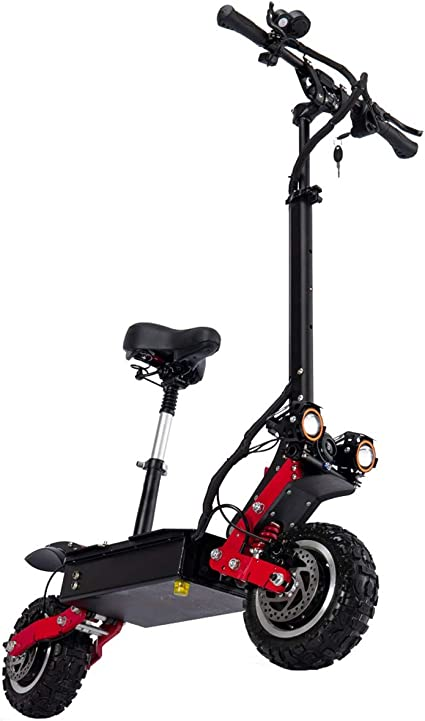 WXJZ Patinete Electrico Adultos con Asiento Scooter Potencia ...