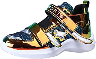 Fauean Women'S Colorful Mirror Trend Sneakers Nightclub Wild Sequined Casual Shoes