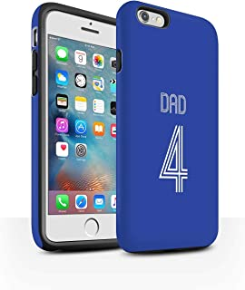 Personalized Custom Soccer Club Jersey Shirt Kit Matte Case for Apple iPhone 6+/Plus 5.5 / Blue White Design/Initial/Name/Text Shockproof DIY Cover