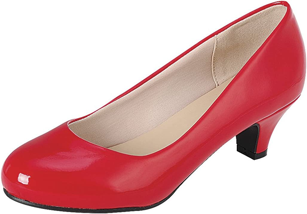 Cambridge shop Select Large-scale sale Women's Classic Dress Round Formal Toe Low Mid