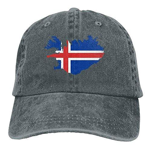 errterfte 2018 Adult Fashion Cotton Denim Baseball Cap Iceland Map Flag Classic Dad Hat Plain Cap Personalized Hat Comfortable Adjustable