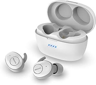 Philips Auriculares Intrauditivos Inalámbricos T3215WT/00 (In-Ear Bluetooth, Asistente De Voz, Larga Autonomía, Protección contra Salpicaduras IPX4, Estuche Cargador USB C) Blanco - Modelo 2020/2021