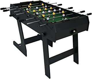 Sunnydaze Folding Foosball Table 48 Inch - Indoor Game Room Soccer Table for Adults and Kids