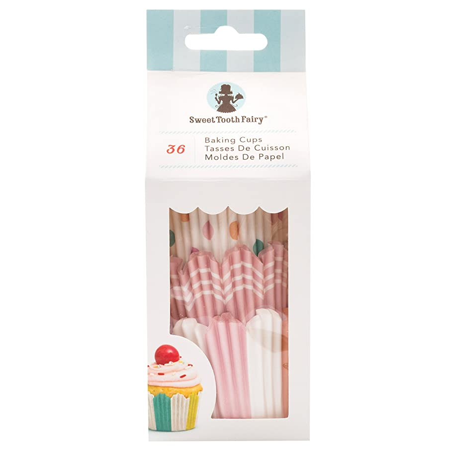 Sweet Tooth Fairy 342043 36 Piece Large Baking Cups Pastel