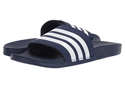 adidas Adilette Comfort (Dark Blue/White/Dark Blue) Men