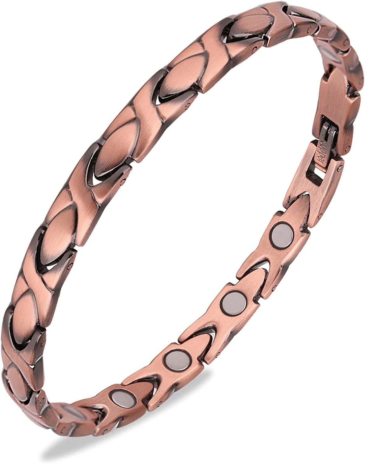 Gioieiieria 99.9% Copper Ranking Outlet sale feature TOP7 Bracelet for Women Therapy Bra Magnetic