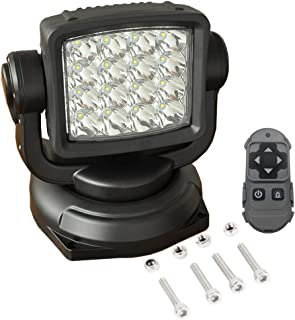 Lightronic 12-24V 80W 10000 Lumens Wireless Remote Control Spot Beam LED Search Light 1-Piece