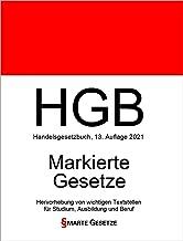 HGB, Handelsgesetzbuch, Smarte Gesetze, Markierte Gesetze: Hervorhebung von wichtigen Textstellen für Studium, Ausbildung ...