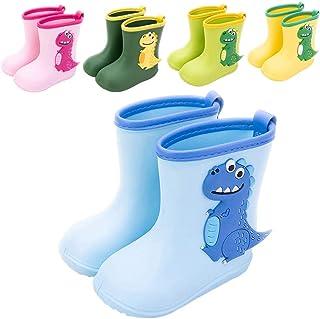 Botas de Agua Niña Niño Impermeable y Antideslizante Botas para Lluvia