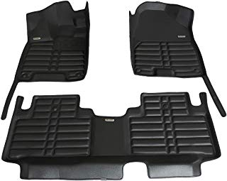 TuxMat Custom Car Floor Mats for Acura MDX 2014-2020 Models - Laser Measured, Largest Coverage, Waterproof, All Weather. The Best Acura MDX Accessory. (Black)