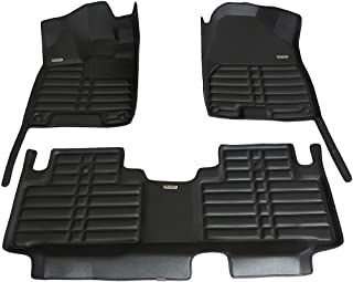 TuxMat Custom Car Floor Mats for Acura MDX 2014-2020 Models- Laser Measured, Largest Coverage, Waterproof, All Weather.The BestAcura MDX Accessory. (Black)
