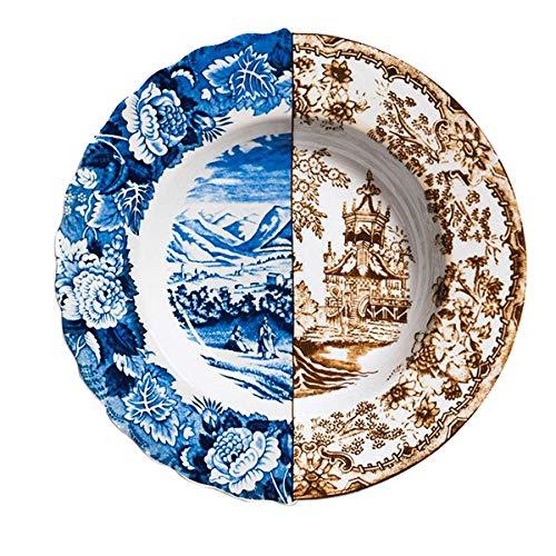 Assiette creuse en porcelaine Ø 25,4 cm H 4,2 cm