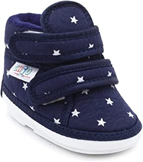 CHIU Chu-Chu Blue Shoes with Double Strap for 18-21 Months Baby Boys & Baby Girls