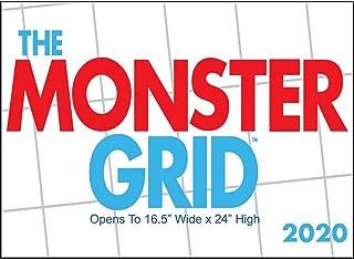 2020 Monster Grid Wall Calendar, by Zebra Publishing