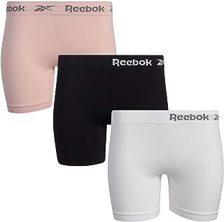 Reebok Women's Underwear – Long Leg Seamless Slip Short Boyshort (3 pack)