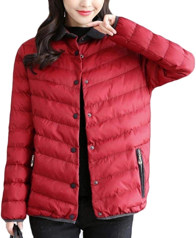 Winme Womens Slim Outwear Packable Light Weight Puffer Down Coat