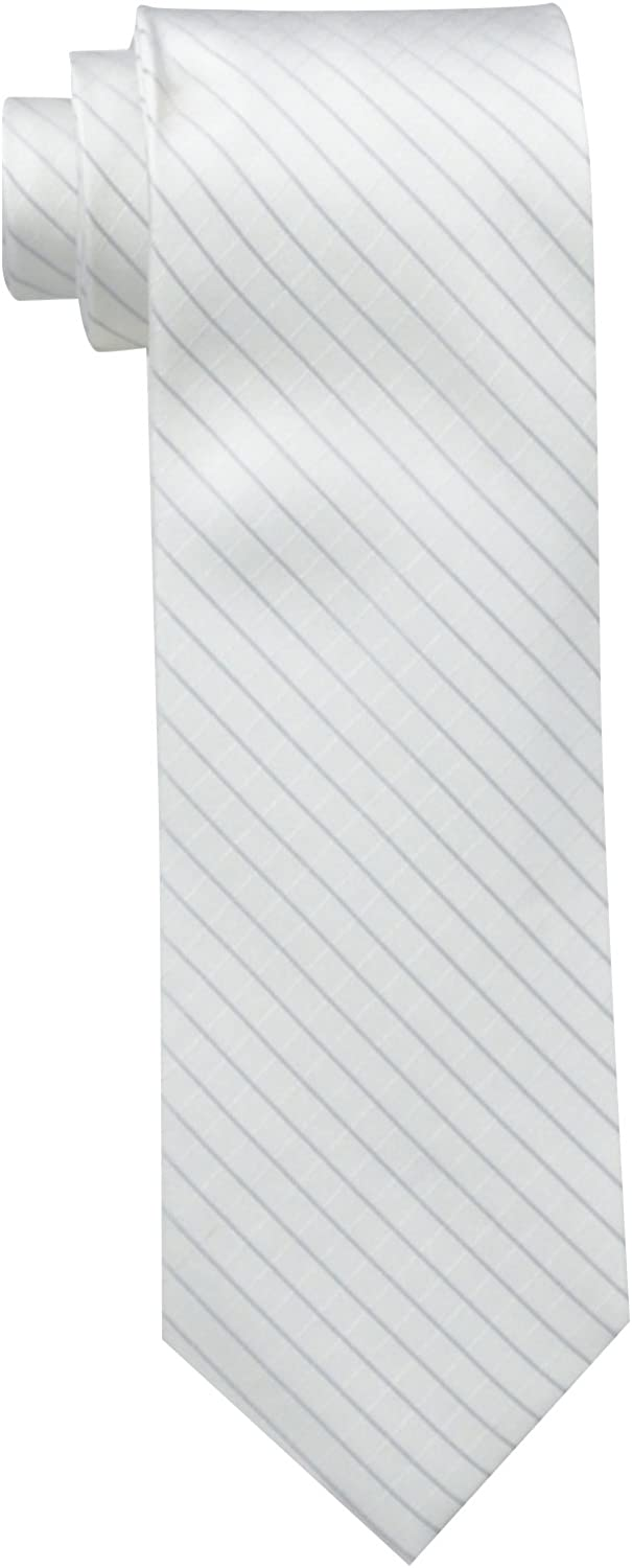 Calvin Reservation Klein Men's Max 87% OFF Etched Tie Windowpane A