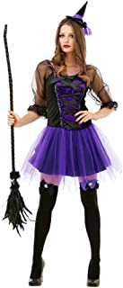 Spellbinding Sorceress Women's Halloween Costume Sexy Witch Classic Fairytale Dress