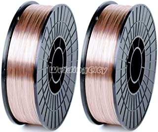 WeldingCity 2 Rolls of ER70S-6 ER70S6 Mild Steel MIG Welding Wire 11-Lb Spool 0.030
