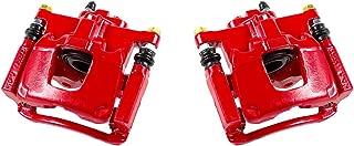 CCK12697 REAR [ 2 ] Performance Grade Red Powder Coated Semi-Loaded Caliper Assembly Pair Set