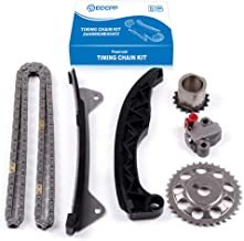 ECCPP 05187 Timing Chain Kit Tensioner Guide Rail Cam Gear Crank Gear fits for Toyota Yaris Aygo Passp Daihatsu 1.0L 1KR-FE 2005-