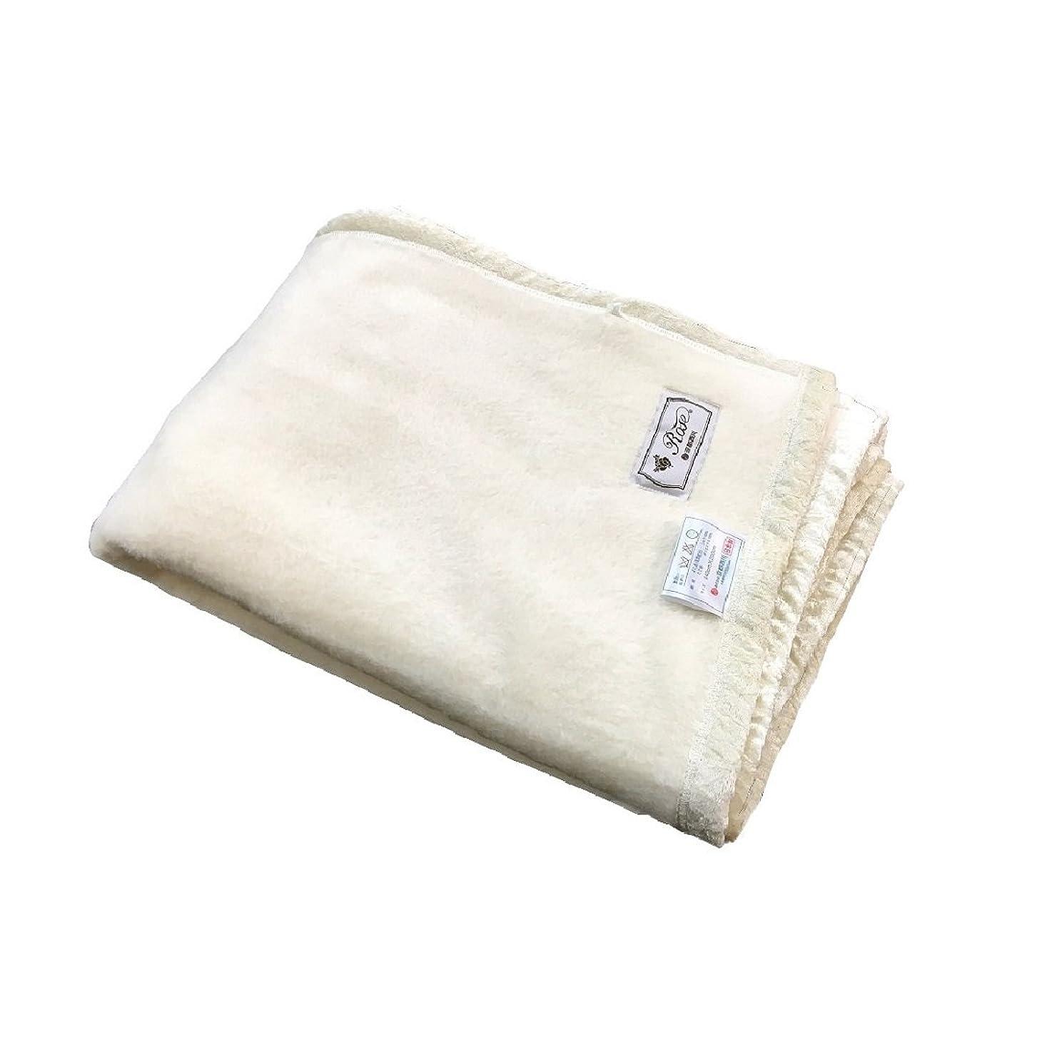 フィラデルフィアファックス有益京都西川 シルク毛布 (毛羽部分) 日本製 シングルサイズ 140×200cm クリーム SGU2561 S