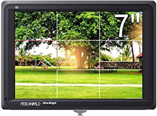FEELWORLD FW279 7 Inch 2200nit Daylight Viewable Full HD 1920x1200 IPS Panel DSLR On Camera Field Monitor 4K HDMI Input/Ou...