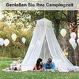 Linkbro Moskitonetz Doppelbett [XXL, Weiß] Moskitonetz Reise, Travel Set, Doppelbetten–Das Original, Tragbar, Insektenschutz Auf Der Reise - 4