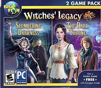 WITCHES LEGACY 2 Pack SLUMBERING DARKNESS + THE DARK THRONE PC Game DVD-ROM + Bonus