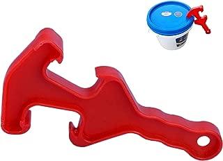 Plastic Bucket Opener Tool   Dual Head Bucket Lid Opener for 5 10 20 25 Gal Bucket, Fermenter Bucket Cover, Pail Plastic Lid - eKoi Bucket Opening Wrench Tool