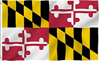 ANLEY Fly Breeze 3x5 Foot Maryland State Polyester Flag - Vivid Color and Fade Proof - Canvas Header and Double Stitched -...