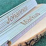 Zollstock personalisiert mit Namen Meterstab *beidseitige Gravur* Geschenk Vatertag Muttertag Weihnachten weiß