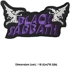Snow - 1 Pcs Rock Punk Retro Music Band Bike Horror Sew Iron On Embroidered Patch Applique (Black Sabbath)