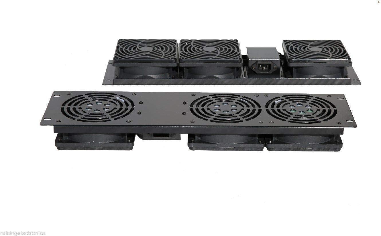 RAISING ELECTRONICS Rack Mount 3-Fan Cooling Unit 3U for Server Cabinet