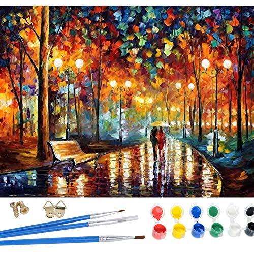 YIMAKJ Pintura por números para adultos, lienzo digital de pintura al óleo, regalo para principiantes, niños, pintura al óleo para decoración del hogar, 40 x 50 cm