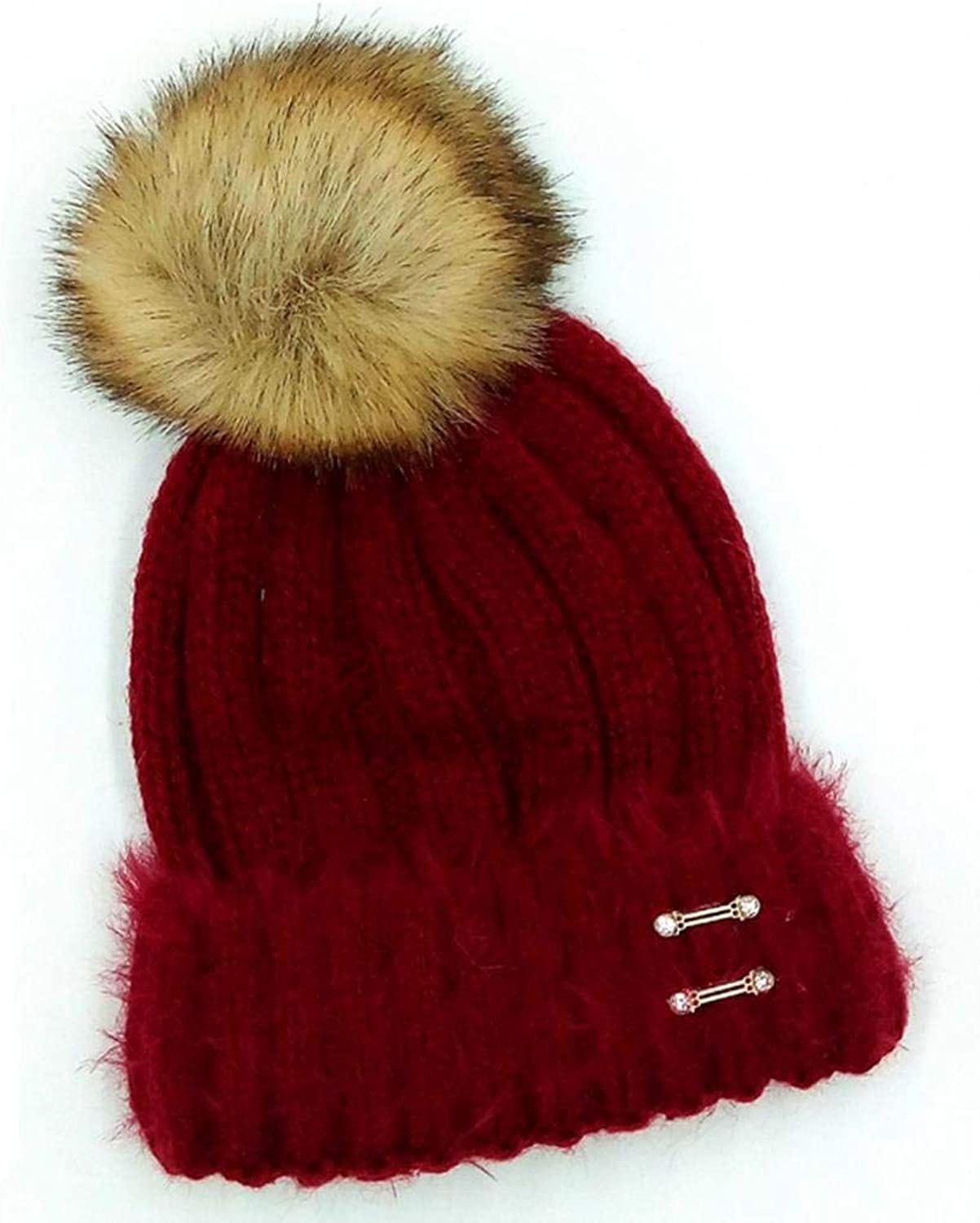 Women's Wool Hat fashion Autumn and Winter Ski Hat Keep Warm Hat Wool Cap Casual Elegant Top Hat Wild for Women