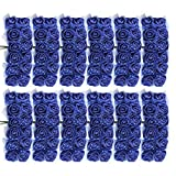 Sitrda (144 pièces Fleur Artificielle en Mousse avec Tige, Bouquet de Mariage Fait à la Main, Centre de Table, Arrangements Floraux, décoration de Maison – Bleu Roi