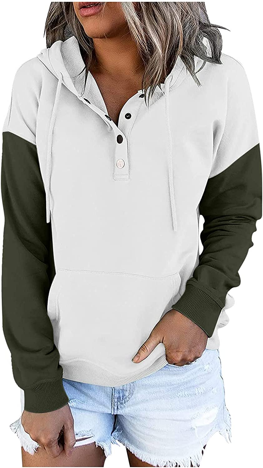 Drawstring Pullover Sweatshirt with Pocket Plus Our shop most popular Size excellence Women Butto