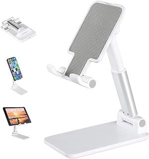 Suporte para celular Android, suporte para celular totalmente dobrável para mesa, suporte de celular ajustável de altura d...