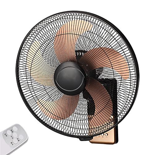 DBGA Ventiladores de Pared, Ventilador de Pared de 5 Aspas con Control Remoto, Oscilación de 120 °, Inclinación Ajustable, Ventilador Oscilante con Temporizador de 7,5 Horas