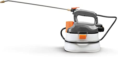 UKOKE U04GS Cordless Electric Power Garden Sprayer, 1 Gallon Tank Portable Handhel, 45 psi & 0.132 GPM (500ml per min), Grey & White 20V 2A Battery & Charger Included