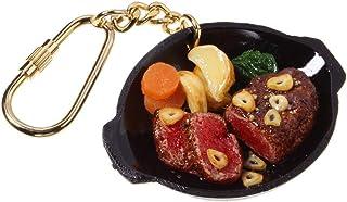 食品サンプル屋さんのキーホルダー(ガーリックヒレステーキ)【食品サンプル ミニチュア 雑貨 食べ物 肉 ステーキ 海外 土産 プレゼント】