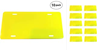 Partsapiens Corp. Yellow Light - Anodized Aluminum License Plate Blank Heavy Gauge .040 (1mm) - 12x6