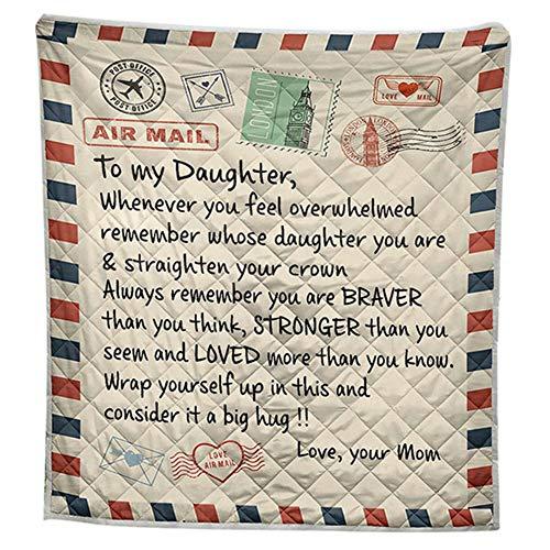 Gebuter Flannel Blanket Message Letter Pattern Blanket 3D Digital Print Blanket Quilt for Home Bed Sofa Air Conditioning Room