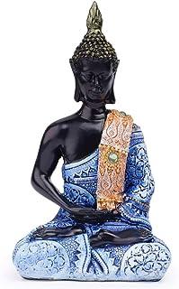 VOANZO Statue de Bouddha thaï en méditation Harmonie de la paix Décoration d'intérieur