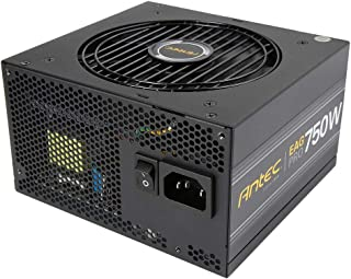 Antec EarthWatts Gold Pro 750W Power Supply 750 Watt 80 PLUS Gold PSU with 120mm Silent Cooling Fan, Semi Modular, 7 Years...