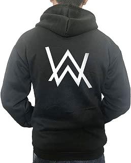 Alan Walker Logo Unisex Zip Hoodies Cosplay Costome (Medium, Black)